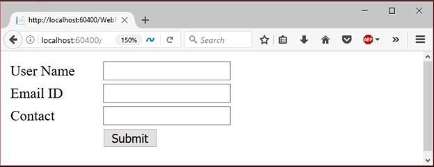 ADO Net Webform Example 1