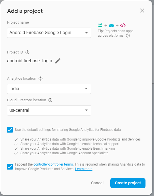 Android Firebase Authentication - Google Login - javatpoint