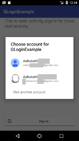 android Google Sign-In Integrating