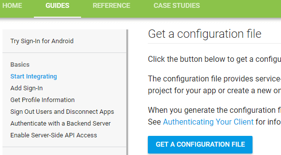 Integrating Google Sign-In in Android App - javatpoint