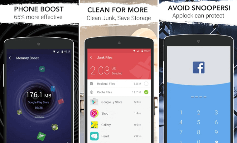 Device cleaner and booster for Android