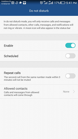 Do Not Disturb in Android