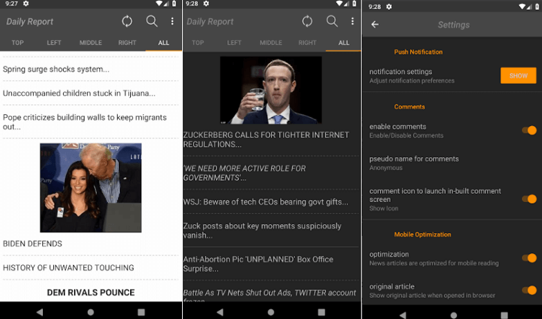 Drudge report Android apps