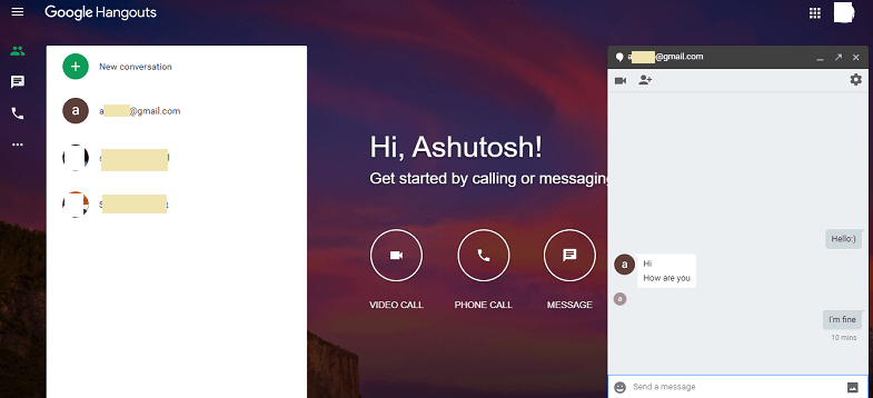 Hangouts App for Android