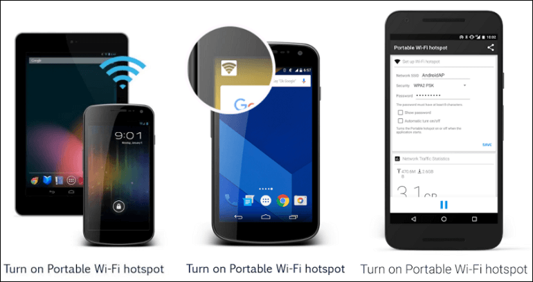 Hotspot apps for Android
