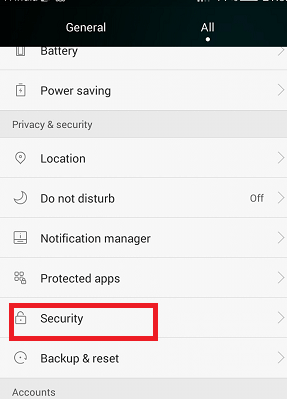 How do I Disable Screen Lock on Android