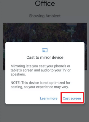 How to Screen Mirror or Cast Android phone on the TV