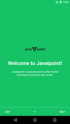 Android Intro Slider Example - javatpoint