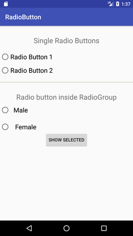 android Radio Button 1