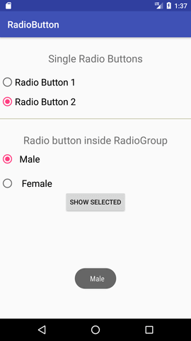 android Radio Button 2