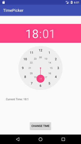 Android TimePicker Example - javatpoint