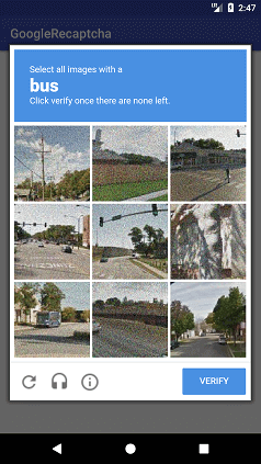 Using Google reCAPTCHA in Android Application