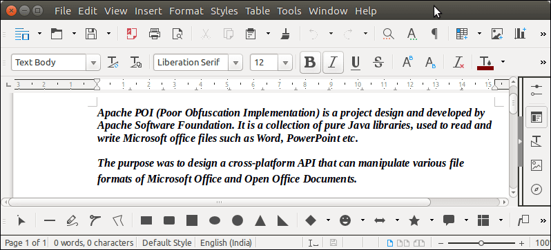 Apache POI Word Extract Paragraph - javatpoint