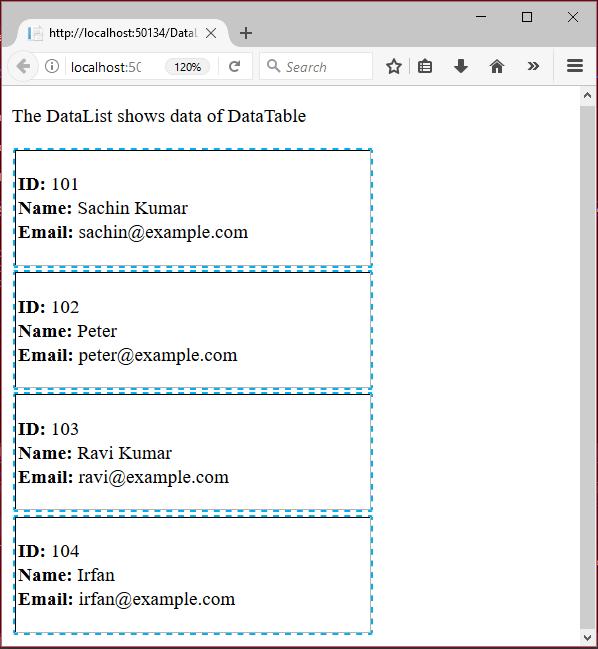 ASP Net Datalist 1