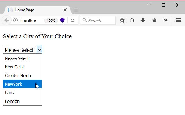 ASP Net DropDownList - javatpoint