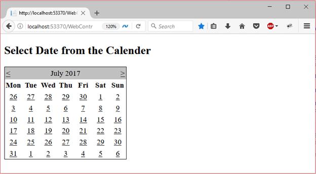 ASP Calendar 2