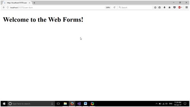 ASP New web form 5