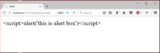 ASP Razor code expression 5