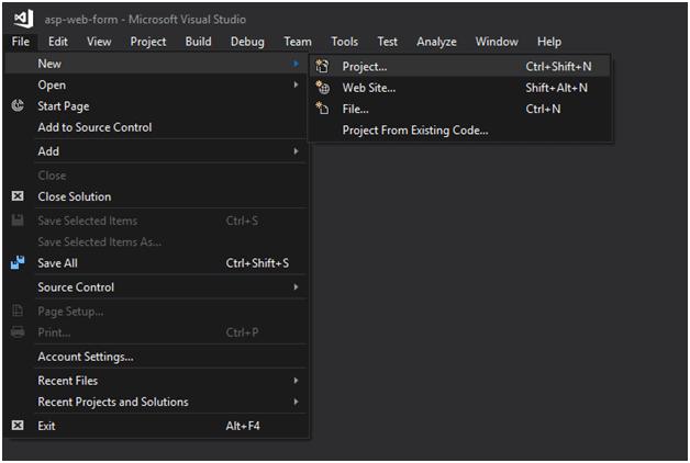 ASP Web forms project 1