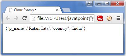 Backbone js model clone() - javatpoint