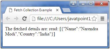 Backbone js collection fetch() - javatpoint