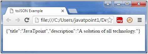 Backbone js collection toJSON() - javatpoint