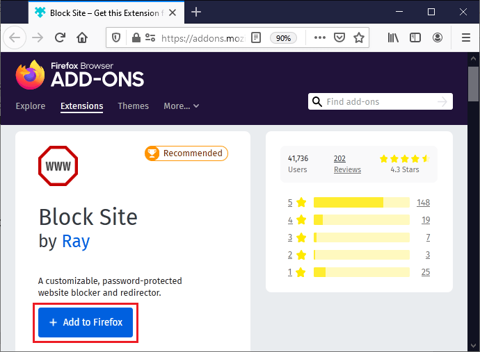 How to block a website on Firefox