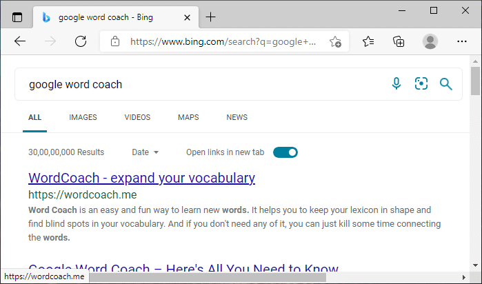 How to open Google word coach
