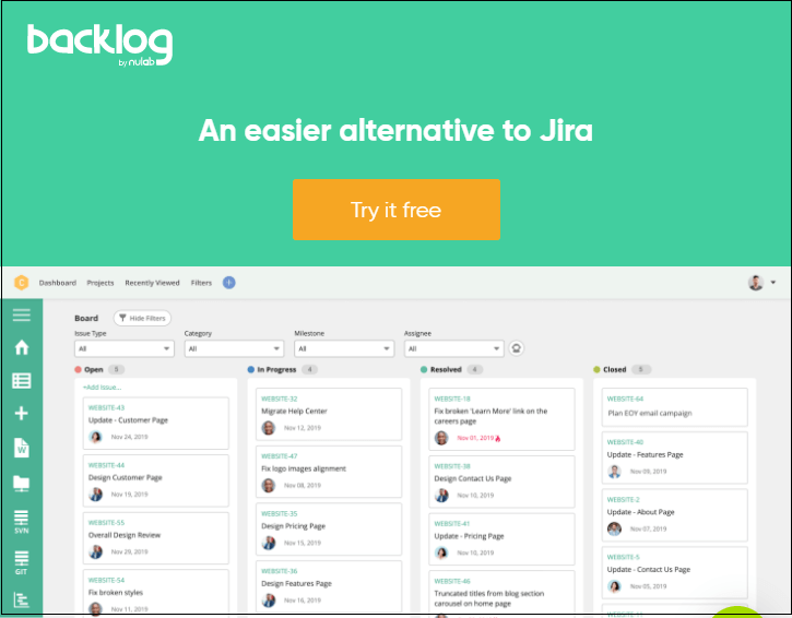 Jira Alternatives