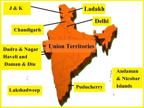 List of Union Territories in India