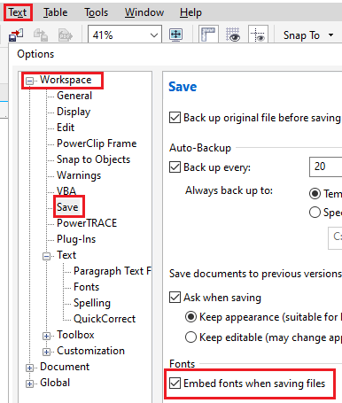 Managing fonts