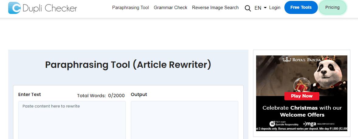 Paraphrasing Tools