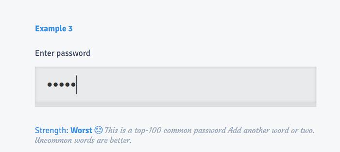 Password strength bar