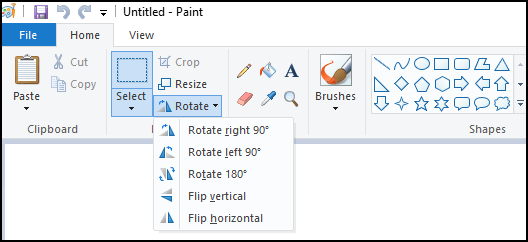 How to rotate a picture in Microsoft Paint