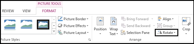 How to rotate a picture in Microsoft Word