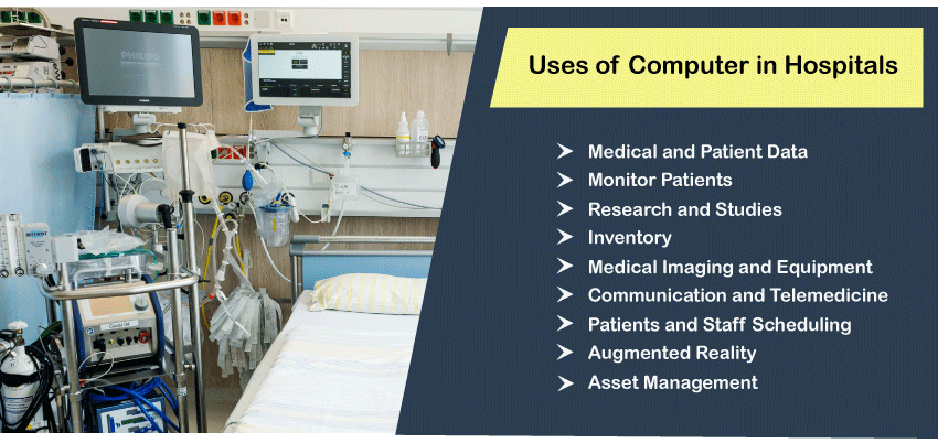 Uses of computer in Hospitals