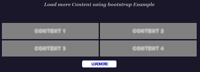 Load more feature in Bootstrap