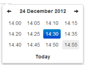Setting of bootstrap timepicker using datetimepicker library