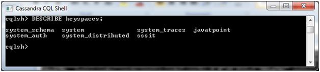 Cassandra Create keyspace 4