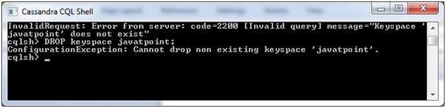 Cassandra Drop keyspace 3