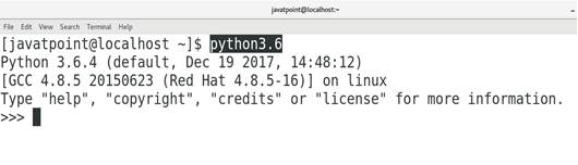 How to Install Python on CentOS - javatpoint