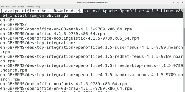 How to Install Apache OpenOffice on CentOS - javatpoint