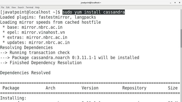 CentOS How to Install Cassandra on CentOS 2