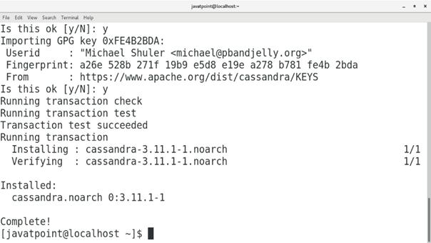 CentOS How to Install Cassandra on CentOS 4