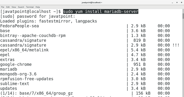 CentOS How to Install MariaDB on CentOS1