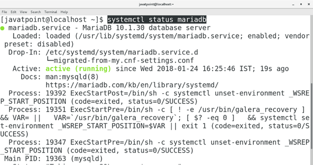 CentOS How to Install MariaDB on CentOS8