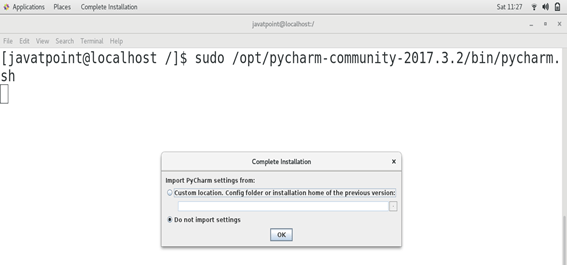 How to Install Pycharm on CentOS - javatpoint