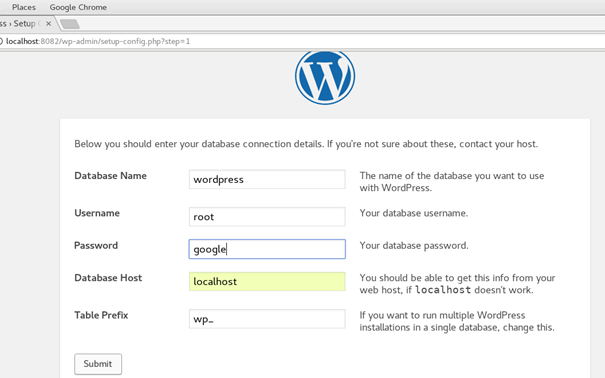 How to Install WordPress on CentOS - javatpoint