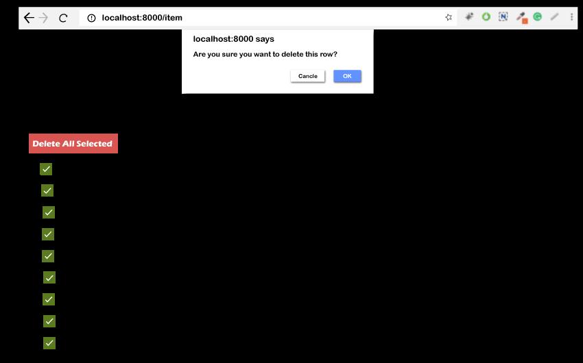 Delete Multiple Rows using Checkbox in Codeigniter 3