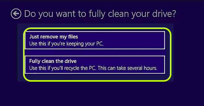 How to wipe a Computer